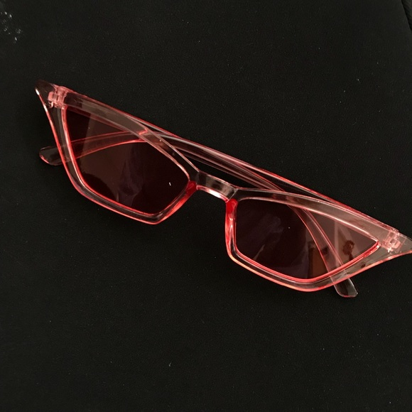 Other - Pink Cat Eyes Vintage Retro Sunglasses